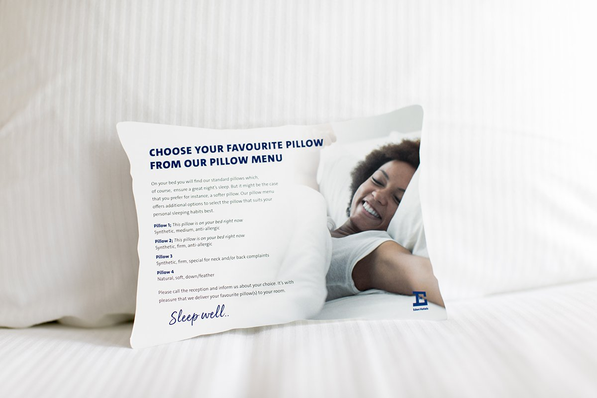 Pillow menu eden hotels
